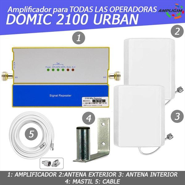 DOMIC 2100 URBAN. AMPLIFICADOR COBERTURA VOZ / 3G ZONAS URBANAS