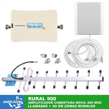 Amplificador cobertura teléfono móvil para zonas rurales Domic 900 RURAL.
