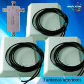 kit 3 antenas interiores
