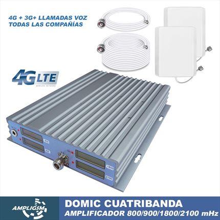 Domic Cuatribanda. Amplificador cobertura 4G -3G -2G oficinas