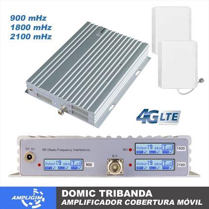 Domic Tribanda. Amplificador cobertura 900-1800-2100 mhz.